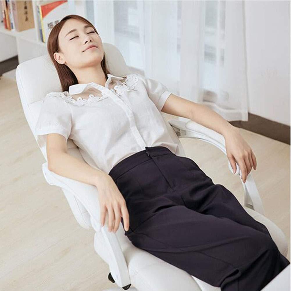 WYYY stolar kontorsstol ergonomisk lutningsfunktion verkställande stol PU-säte datorstol armstöd sitthöjd 46 cm hållbar stark Brun Vit