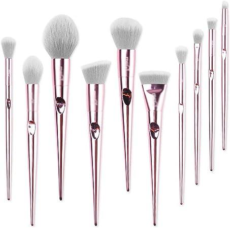 Juego de Pinceles de Maquillaje Pincel De Maquillaje Pincel De Sombra De Ojos con Estuche De Maquillaje, Cosméticos Herramientas De Belleza 10 Piezas Rosa: Amazon.es: Hogar