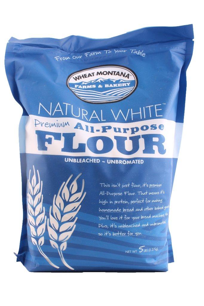 Wheat Montana Natural White All-Purpose Flour, 5 Pound (Pack of 8)