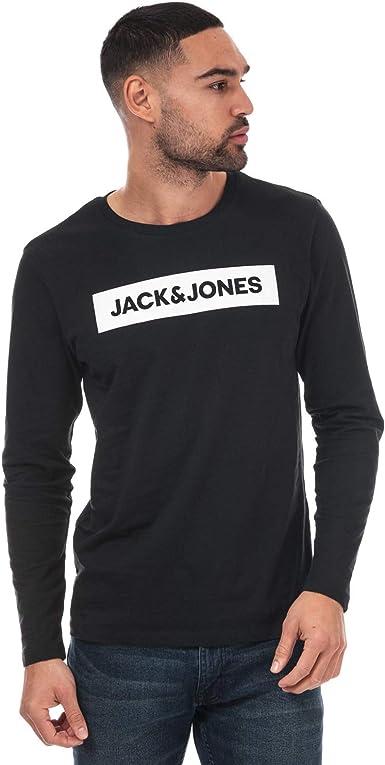 Jack Jones Brian - Camiseta de manga larga para hombre, color negro Negro XXL: Amazon.es: Ropa y accesorios