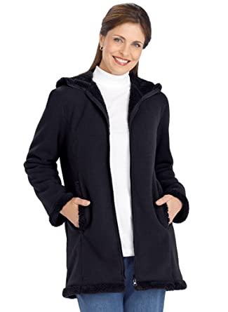 Parka with microfleece