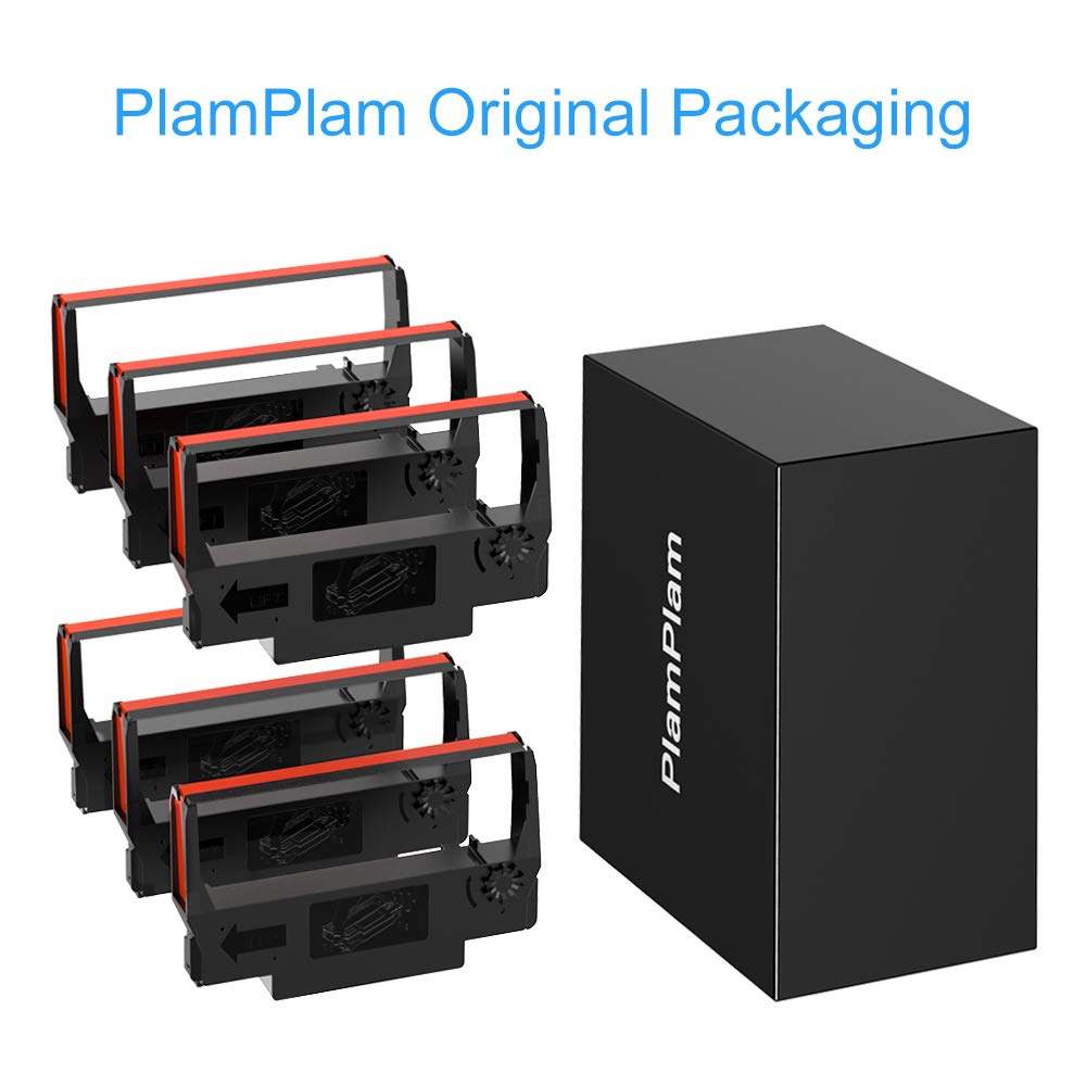 Black Red, 6-Pack PlamPlam Printer Ribbons ERC30 ERC-30 ERC 30 34 38 B//R Compatible Ribbon Cartridge for use in ERC38 NK506