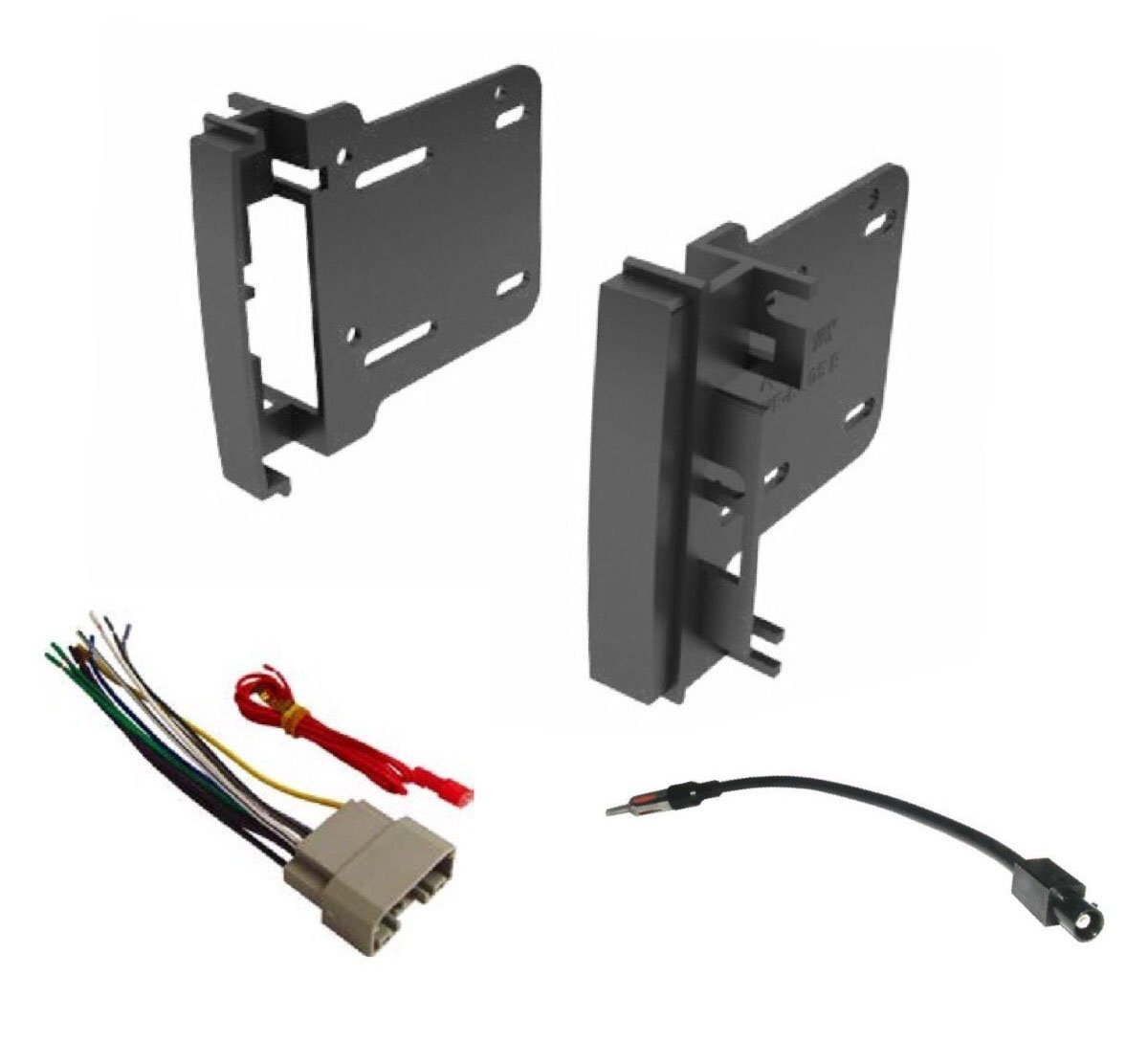Amazon.com: Car Stereo Radio Install Dash Kit, Wire Harness, and Antenna  Adapter to Add a Double Din Radio for 2007-2016 Chrysler Dodge Jeep: Car ...