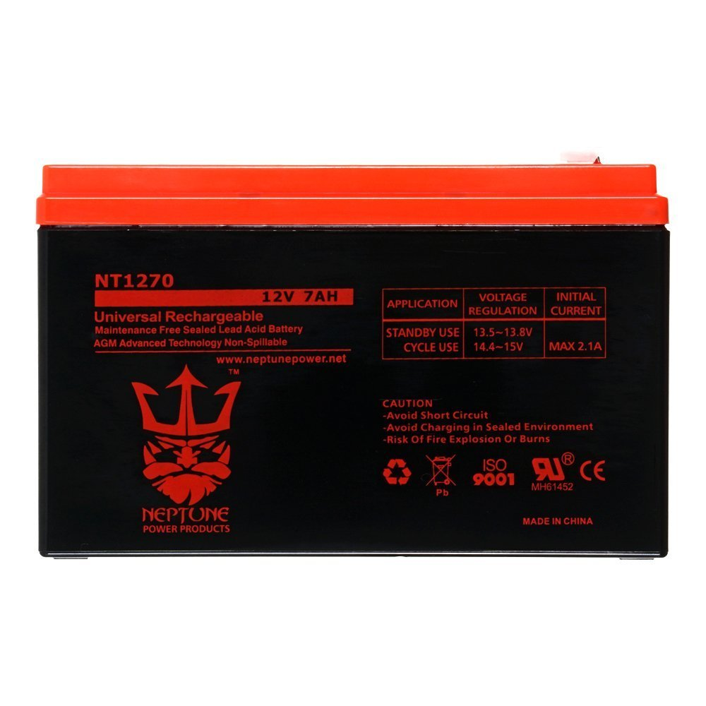 12V 7AH SLA Battery for Verizon FiOS PX12072-HG Replacement by Neptune