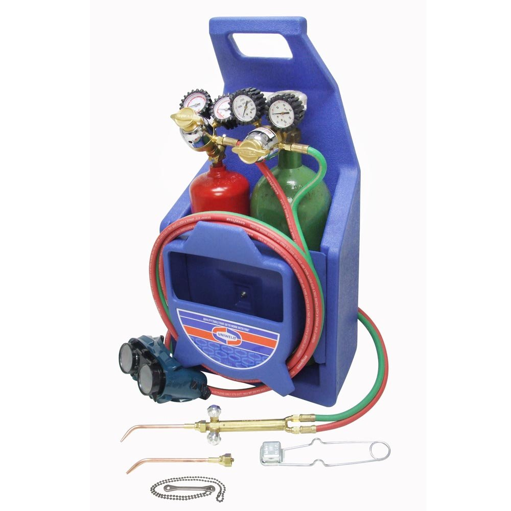 Uniweld K23-P Patriot Weld and Braze Outfit with 511 Plastic Carrying Stand and Tanks