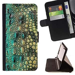 DEVIL CASE - FOR LG Nexus 5 D820 D821 - Crocodile Skin Pattern Nature Reptile - Style PU Leather Case Wallet Flip Stand Flap Closure Cover