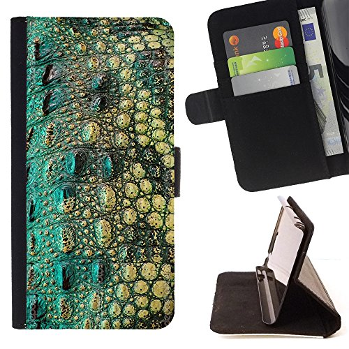 XP-Tech / Flip Wallet Diary PU Leather Case Cover With Card Slot for LG Ray / Zone - Crocodile Skin Pattern Nature Reptile