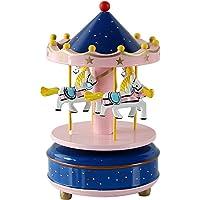 HorBous Merry-GO-Round Carrusel Decoración de Madera del Regalo