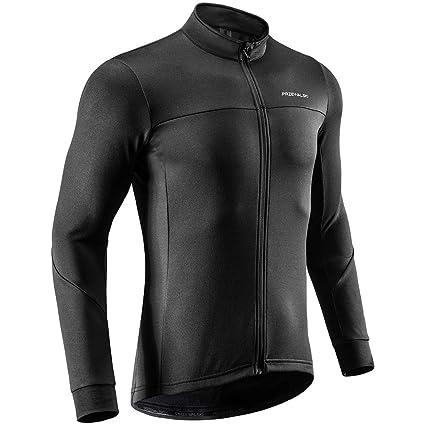 Przewalski Men s Winter Thermal Cycling Jersey Long Sleeve Bike Jacket  Breathable Full Zipper Bicycle MTB Shirt 028bacdcb