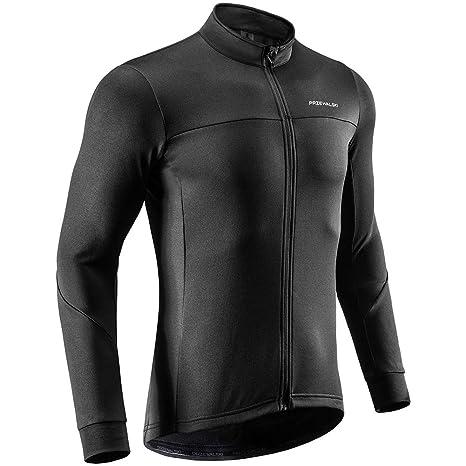 9e44b22c8 Przewalski Men s Winter Thermal Cycling Jersey Long Sleeve Bike Jacket  Breathable Full Zipper Bicycle MTB Shirt