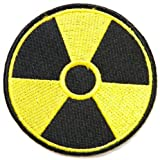 Nuclear Rediation Symbol Danger Peace Logo Miltary Army Jacket T-shirt Patch Sew Iron on Embroidered Sign Badge Costume