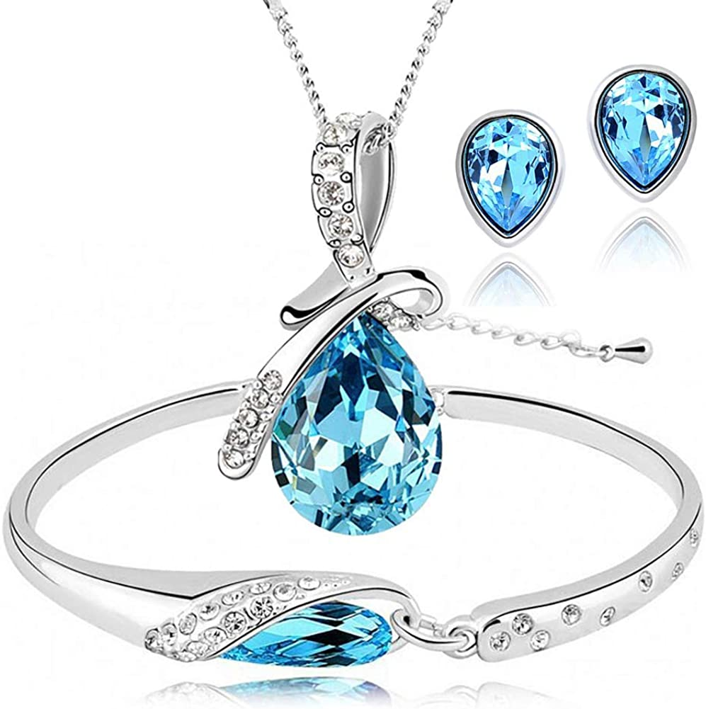 Lady Women Silver plated Chain Crystal Rhinestone Square Pendant Necklace Shine