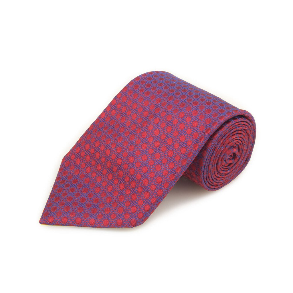 Robert Talbott Best Of Class Red And Blue Dot Woven Silk Tie