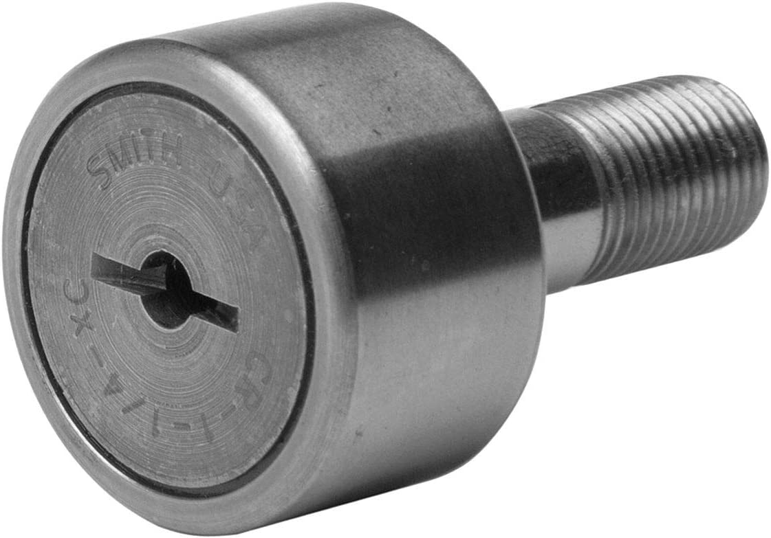 Crowned CR-1-XC Sealed Smith Bearing Cam Follower Stud