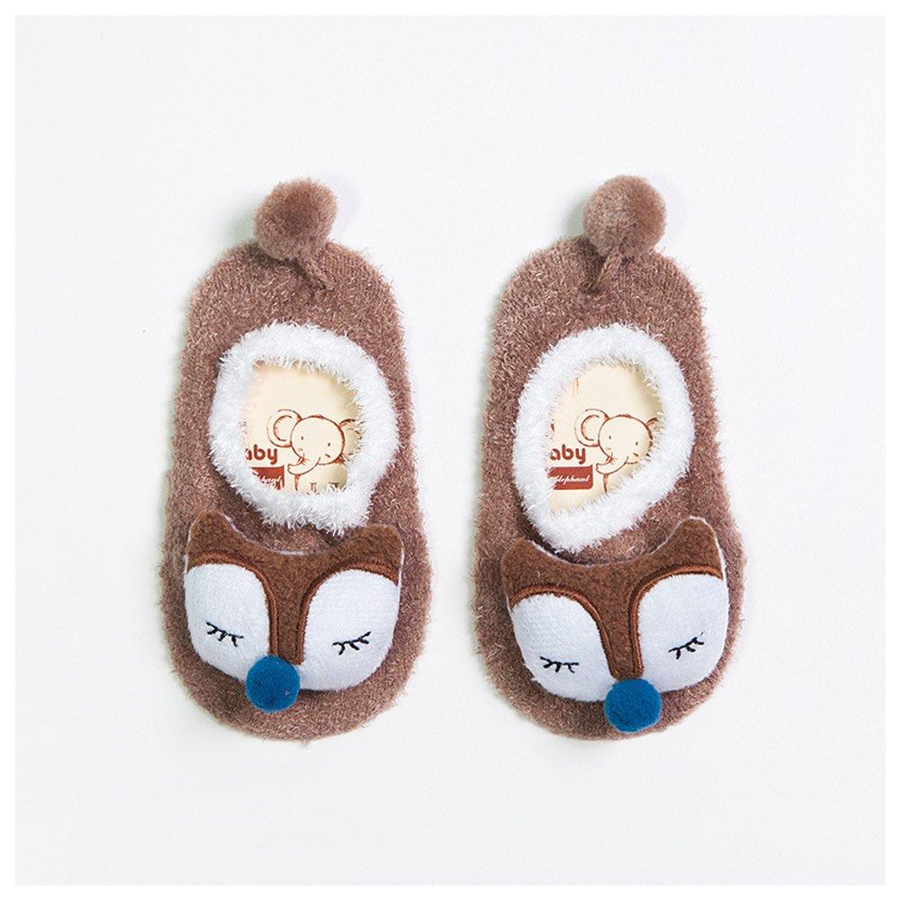 LSERVER-Calcetines Antideslizantes para Bebés Calcetines Calientes de Estar por Casa Botines de Animales: Amazon.es: Ropa y accesorios