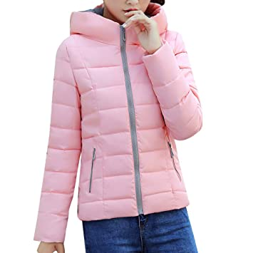 Niña otoño Chaqueta fashion 2018,Sonnena ❤ Abrigo de invierno color sólido cálido mujer Chaqueta delgada gruesa con capucha Abrigo seductor de invierno: ...