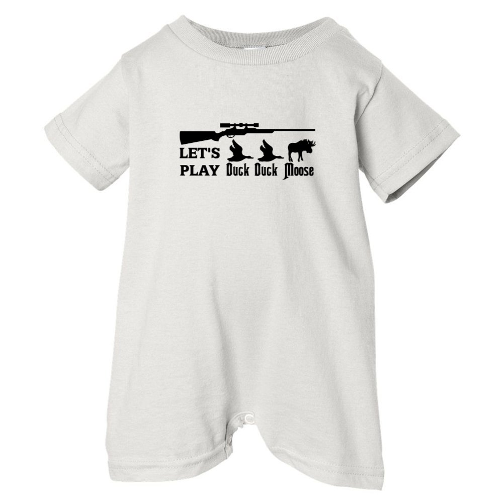 Mashed Clothing Unisex Baby Lets Play Duck Duck Moose T-Shirt Romper