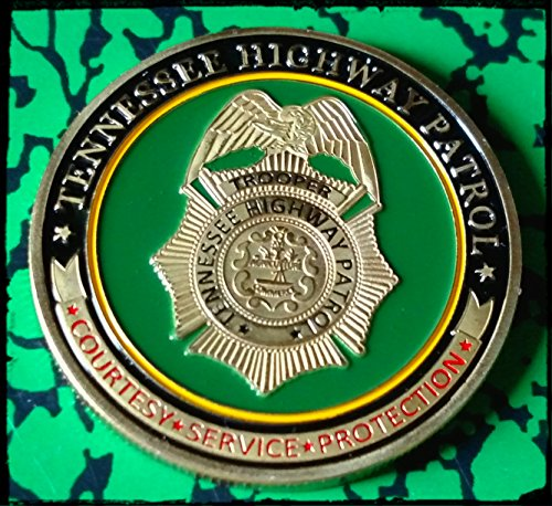 Tennessee State Coin - Tennessee State Highway Patrol Trooper Police Challenge Art Coin
