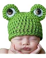 Gosford - Cappellino per neonato per servizio fotografico a forma di rana, lavorato all'uncinetto