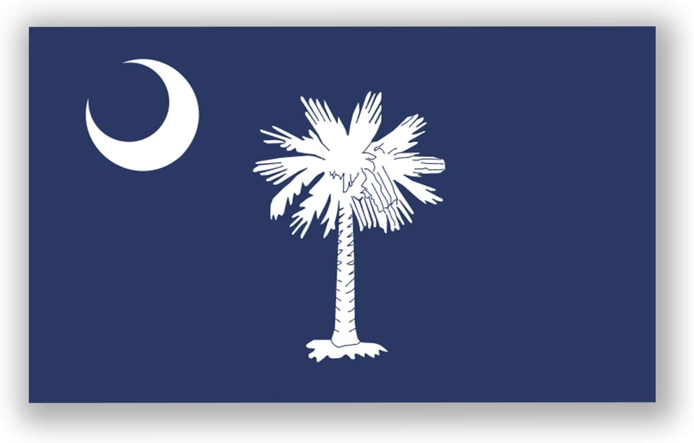 2-Pack South Carolina State Flag Decal Stickers | Official Flag of South Carolina Stickers | 5-Inches by 3-Inches | Premium Quality Vinyl | PD346