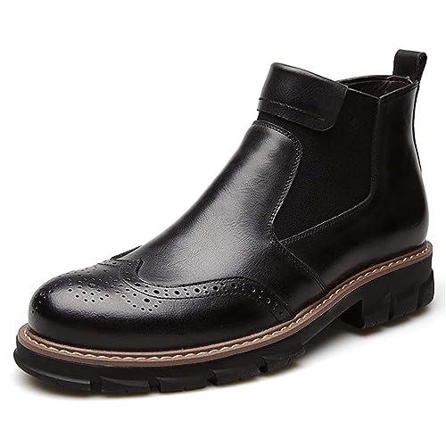 Zapatillas Chelsea para Hombre Interior de Piel Martin Botas Mocasines urbanos Casual Antideslizantes: Amazon.es: Zapatos y complementos