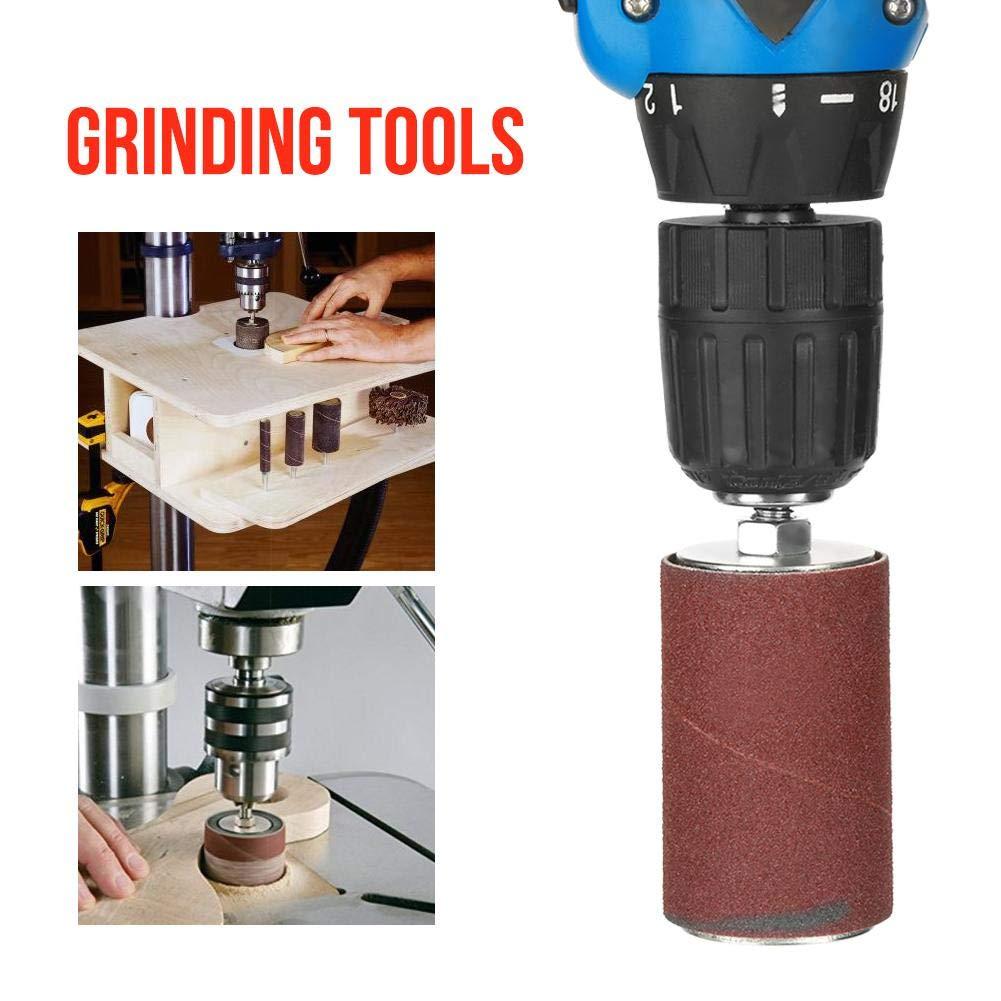 Lot de 20 outils abrasifs /à broche avec /étui pour perceuse
