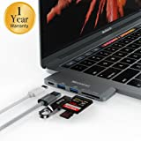 MoArmouz® USB 3.1 Type C Hub for Macbook Pro 2016/2017 Touch Bar and without Touch Bar, MacBook 12-Inch, (USB 3.0) 5 in 1 Combo Hub [1 YEAR WARRANTY] Includes 1 SD memory port, 1 Microsd Memory Port Card Reader and Charging Port [GRAY]