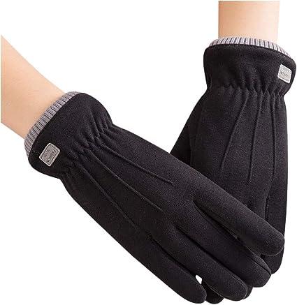 Women Winter Gloves Warm Touch Screen Riding Driving Soft Velvet Gloves Mittens