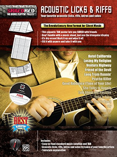 (Acoustic Licks & Riffs: Your Favorite Acoustic Licks, Riffs, Intros, and Solos, Poster / Folder / Triangular Display (ShredHed))