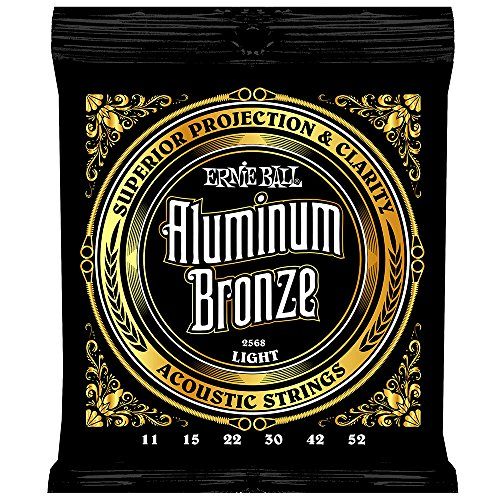 Ernie Ball Aluminum Bronze Light Acoustic Set, .011 - .052 ()