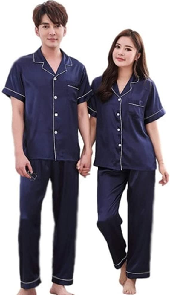 ejemplo de pijamas para parejas mangas cortas