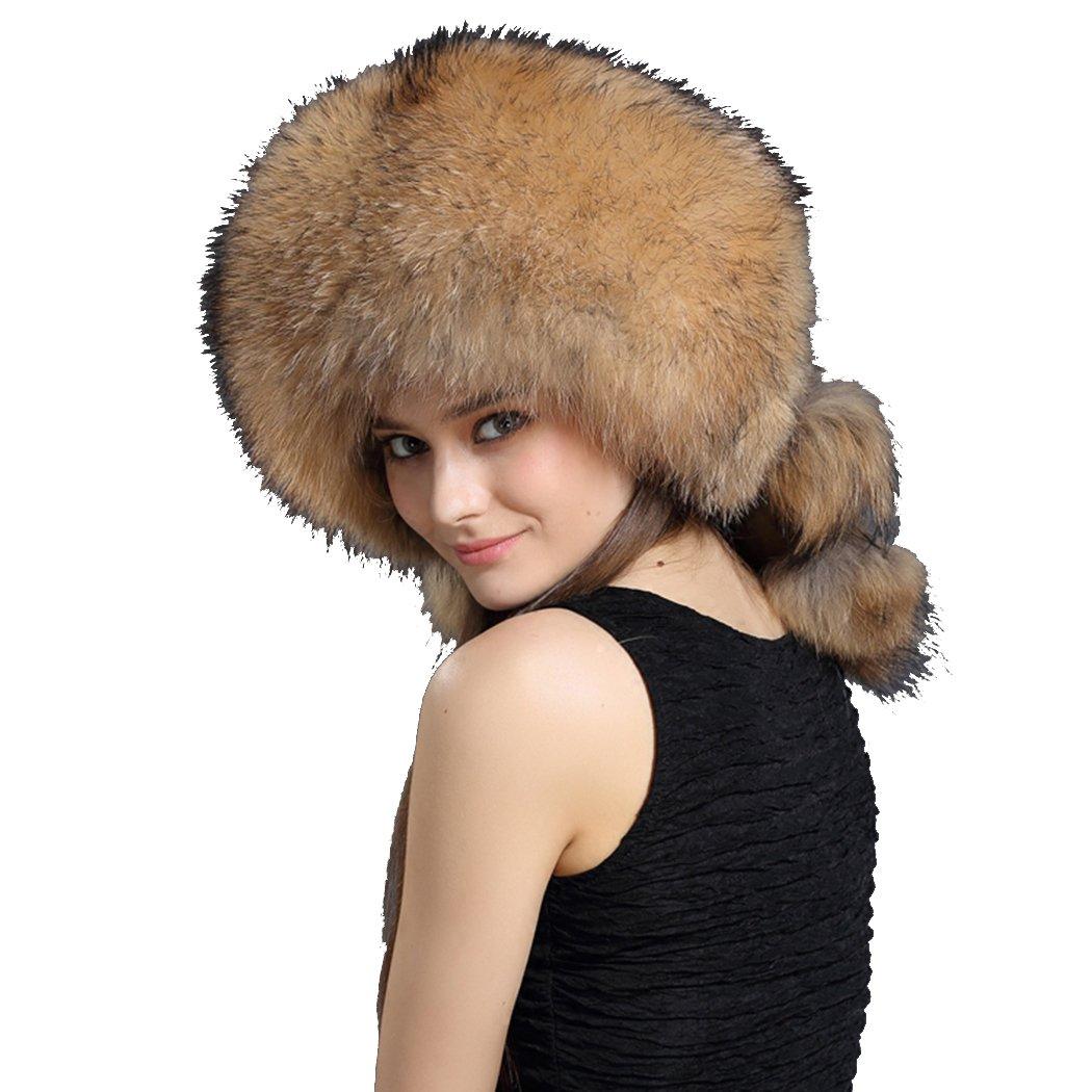 BeFur Women Hat Unisex Winter Fur Cap Russian Hat Bombers by BeFur