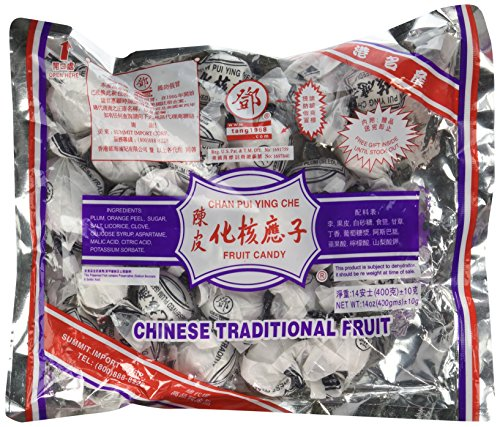 Dried Plum Fruit Candy - Chan Pui Ying Che - 14 Oz (400 G) (Pack of 1) (Seedless Plum)