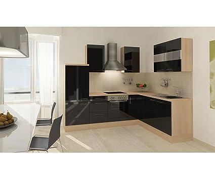 respekta Cocina vacíos de bloque Premium L de cocina 260 x 200 cm imitación de acacia