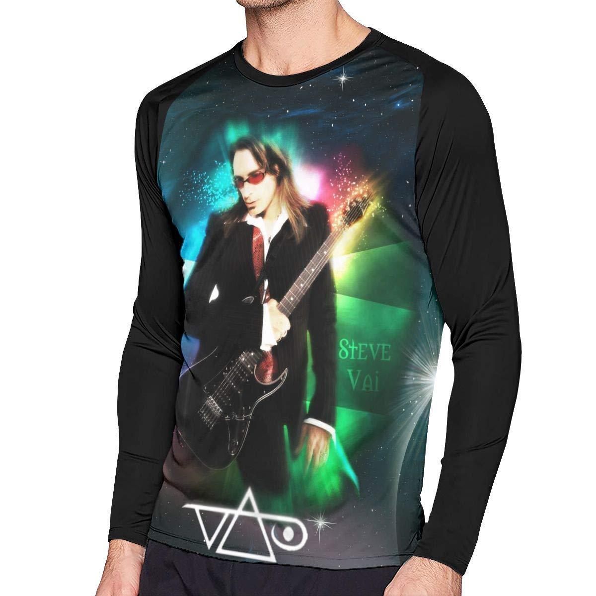 LIBERVIV Steve Vai Mens Long Sleeve Baseball Tee Shirt Sports Raglan Tee Shirts