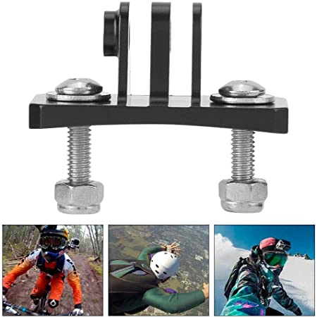 Black Diyeeni Fixing Bracket Action Camera Multi-Sports Helmet Mount Skydiving Helmet Fixed Mount Holder Adapter for Hero 7 6 5 4 Session Action Cameras