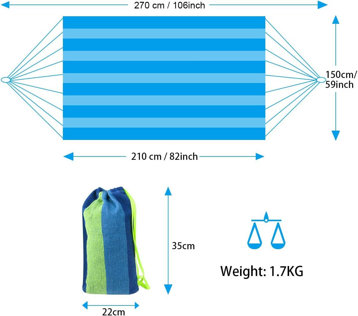 Blu Barre per la Diffusione Amaca da Esterno per Giardino 210 x 150CM flintronic Amaca da Giardino Massima capacit/à di Carico 300KG Amache di Cotone per Esterno Campeggio Viaggio