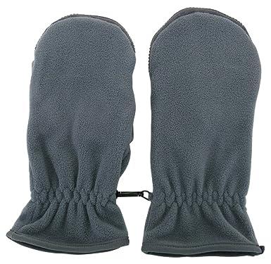 45283cbfc0a78f カイロが入る 手袋 フリース素材 カイシオン 手袋 指先あったか (グレー, レディースM~