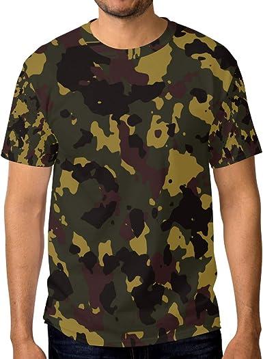 FAJRO - Camiseta de Manga Corta para Hombre, diseño Militar ...
