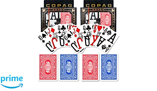 Set of 2 Blue//Red Trademark Global 10-P8820M-2 Copag Poker Size Magnum Index Playing Cards