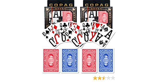 Copag Poker Size Magnum Index Playing Cards Blue Red Setup