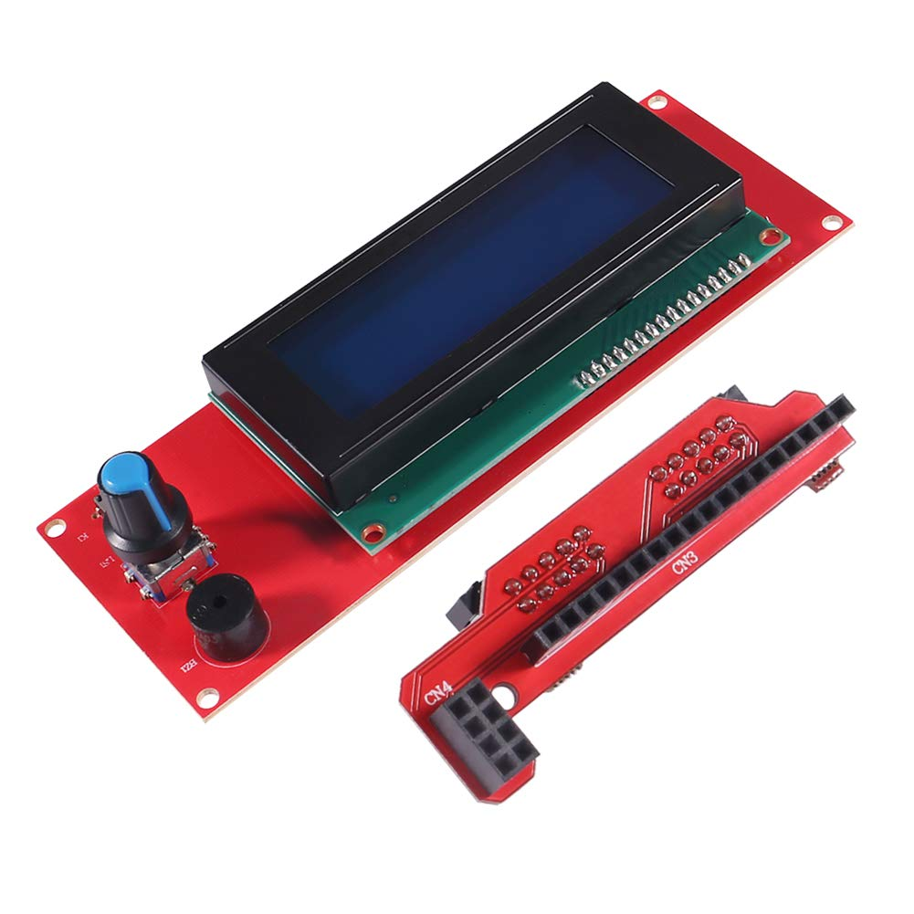 AITRIP LCD 2004 LCD Screen Smart Display Screen Controller Module with Cable for RAMPS 1.4 Arduino Mega Pololu Shield Arduino Reprap 3D Printer Kit Accessory