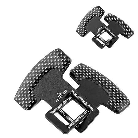 2PCS Universal-Rahmen G/ürtel Justagew/ölbung Sicherheitsgurt Sockel Schlie/ße Insert Autogurt Clip
