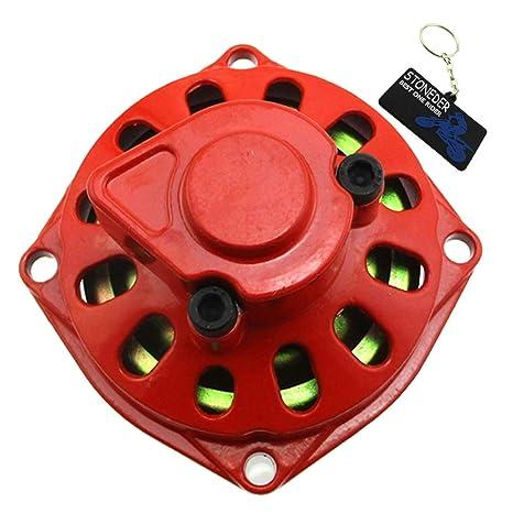 stoneder rojo 25H 6 dientes Embrague Gear Box con tapa de tambor para 2 tiempos 47