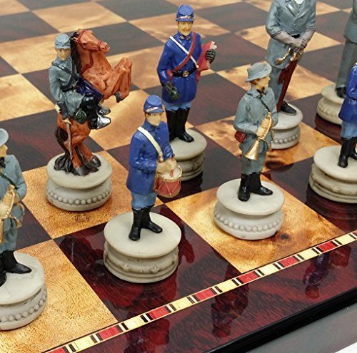 HPL US American Civil WAR Chess Set W/ 18