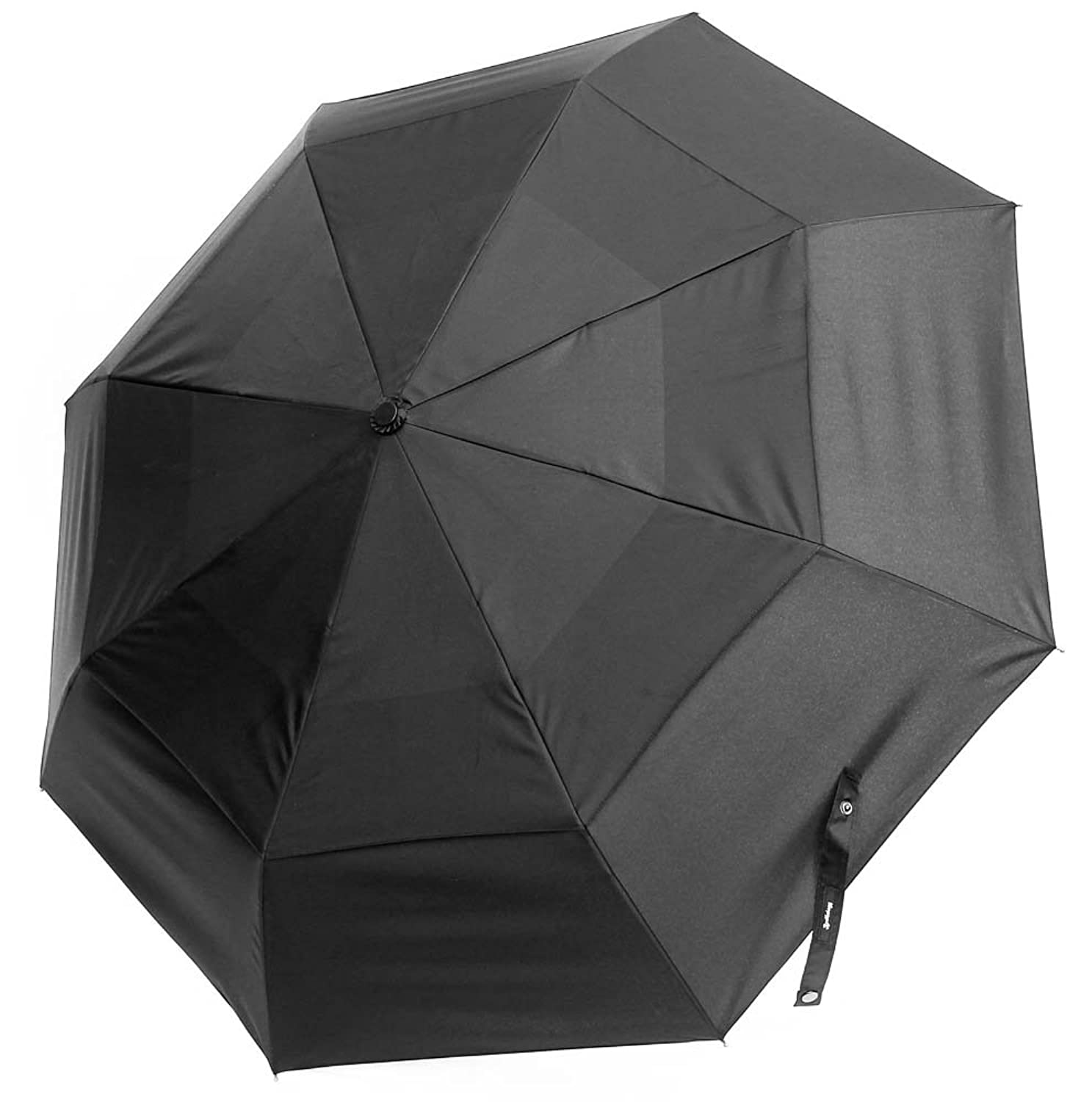 Amazon.com | Umbrella Compact Rain Folding Windproof Vented Auto Black Small Travel Umbrella | Umbrellas