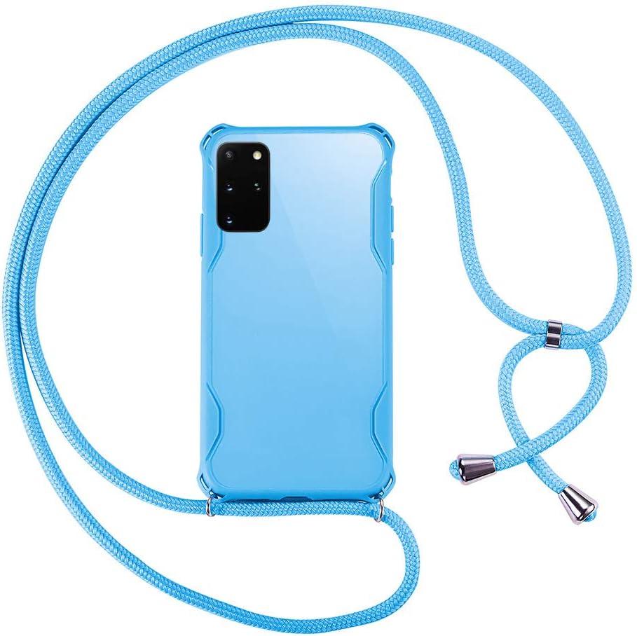 Protector de Pantalla Carcasa de m/óvil Caja del tel/éfono Color TPU con Cordon para Llevar en el Cuello Azul xinyunew Funda Colgante movil con Cuerda para Colgar Samsung Galaxy S20 Plus