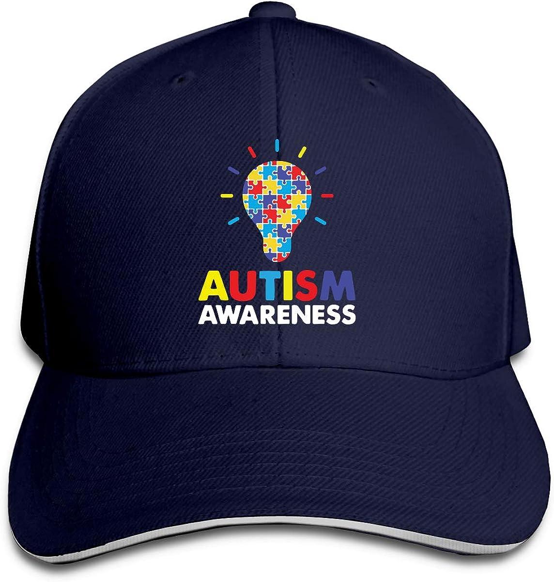 Youbah-01 Womens//Mens Autism Awareness Adult Adjustable Snapback Hats Trucker Cap