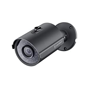 Amcrest Full HD 1080P Bullet Outdoor Security Camera (Quadbrid 4-in1 HD-CVI/TVI/AHD/Analog), 2-Megapixel, 98ft Night Vision, Metal Housing, 3.6mm Lens 90° Viewing Angle, Black (AMC1080BC36-B)