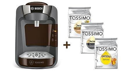 Bosch Tassimo SUNY + 3 x T disc té café 30,5 x 16,7 x 25,1 marrón ...
